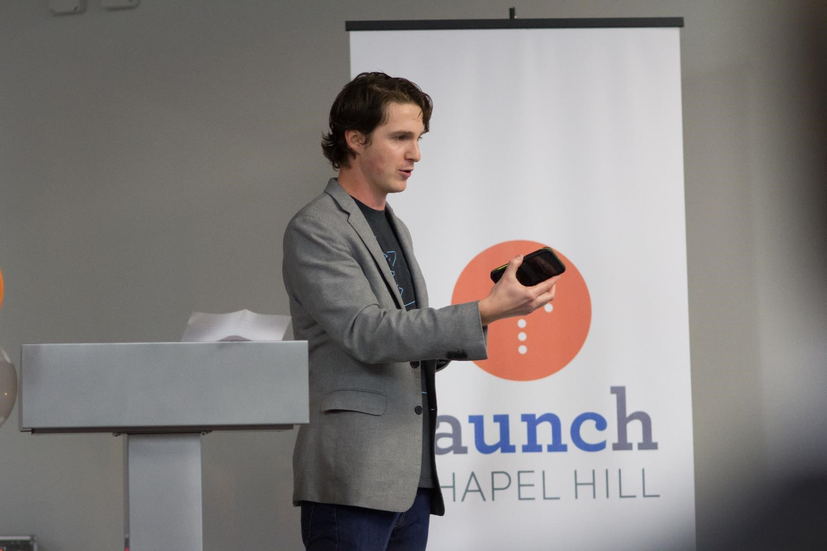 Alain Glanzman, co-founder of WalletFi, describes his company's experience after graduating from startup accelerator Launch Chapel Hill.