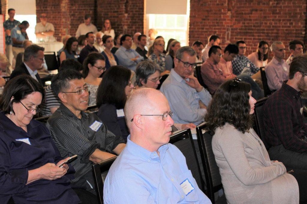 More than 150 UNC-Chapel Hill faculty and staff attend the annual Celebration of Inventorship, where Mark Schoenfisch received the Inventor of the Year award