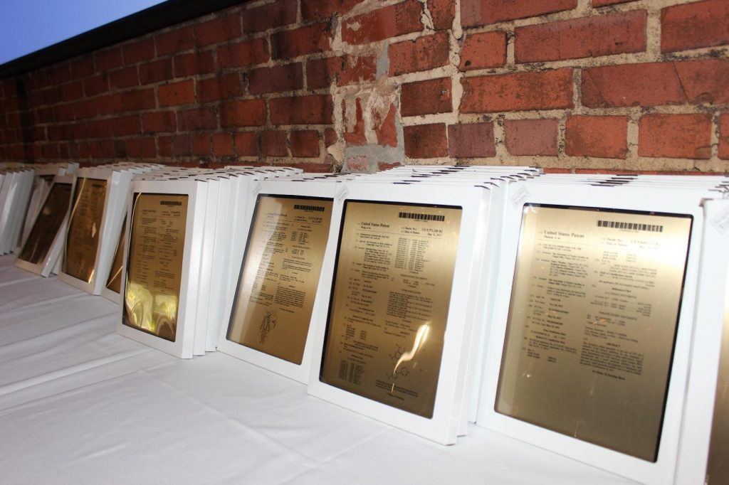 Patent plaques for faculty inventors