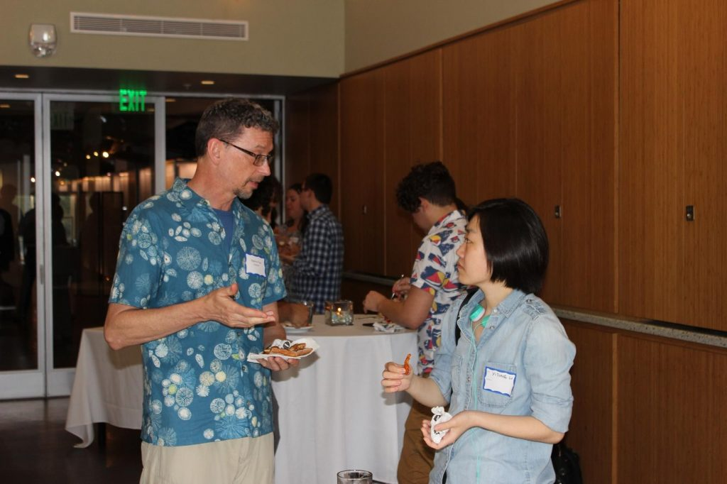 Faculty networking reception following the award presentation and patent plaque announcements