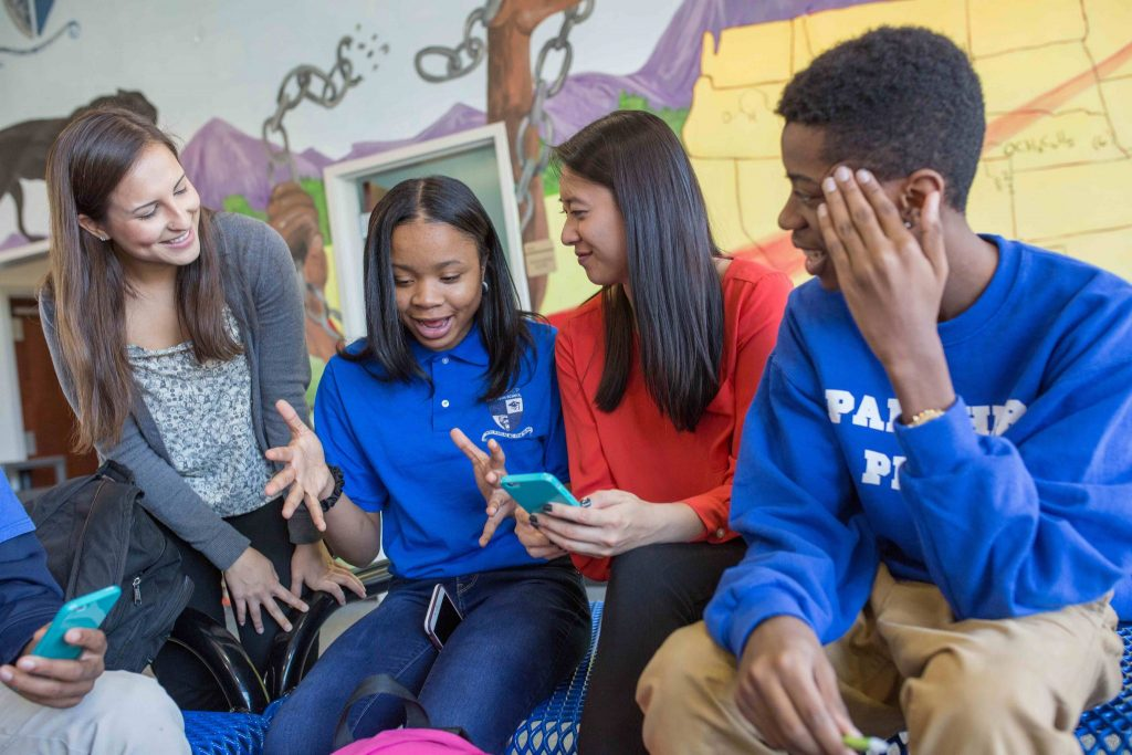 App users can learn more about topics like healthy relationships, bullying and online safety.