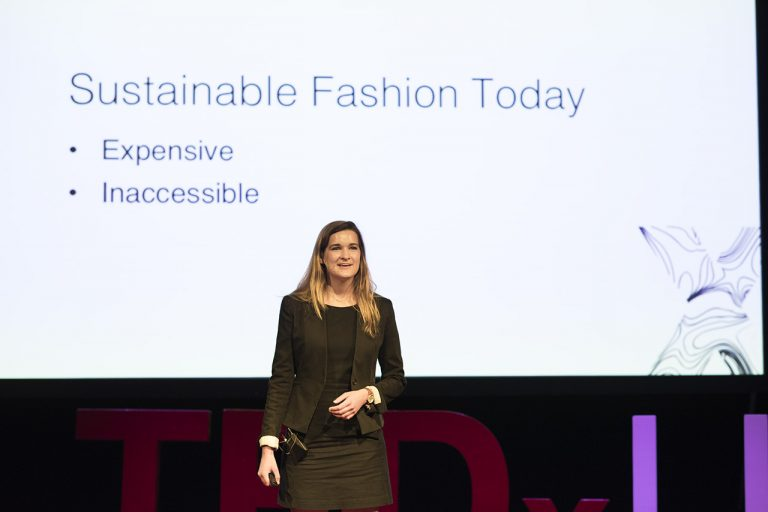 Emily Neville, a junior at NC State University and founder of Reborn Clothing Co.