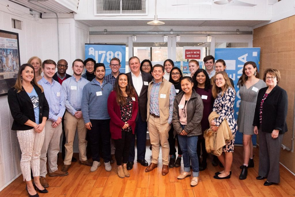 The 2018-19 Dreamers-Who-Do student cohort gathered to share updates on their entrepreneurial projects and discuss lessons learned