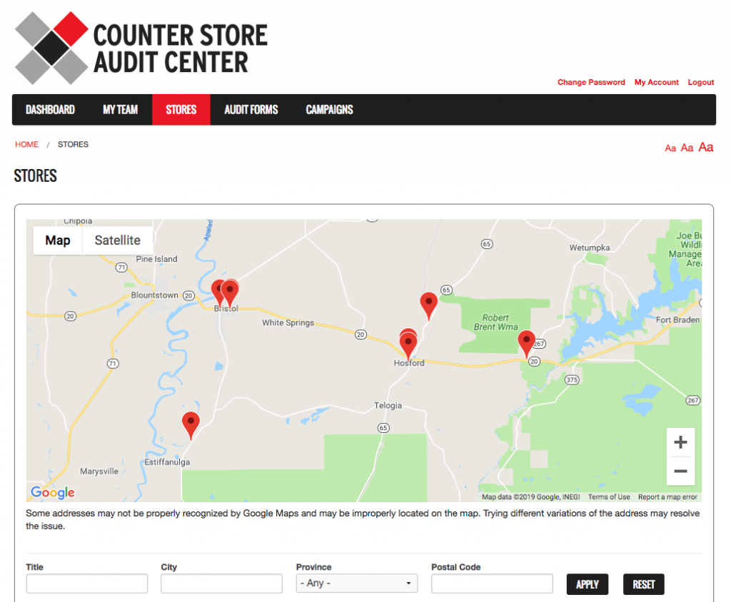 Counter Tools Store Audit Center