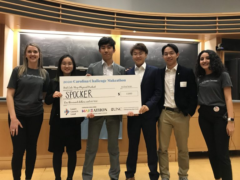 SPOCKER (Best Late-Stage Physical Product): A smart sock product that determine a wearer's health information by collecting and analyzing real-time gait pressure data
