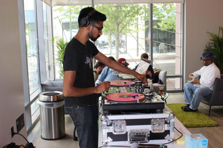 DJ Rang with Next Level hip-hop artists